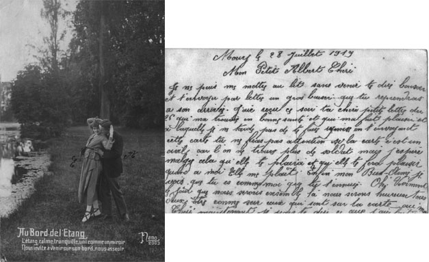 carte postale 1919 soldat guerre