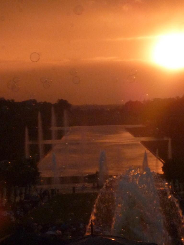 coucher de soleil versailles